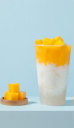 芒果酸奶西米露