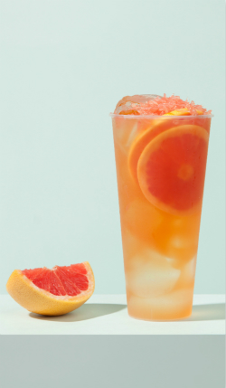 葡萄柚青茶